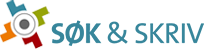 Clickable logo for Søk & Skriv