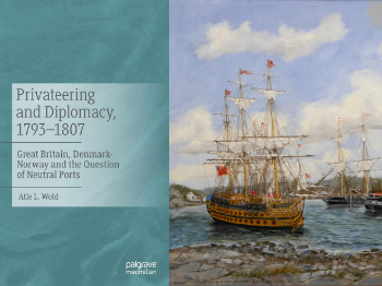 book cover, ship, old painting