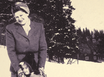 book cover, mother and child, old photo