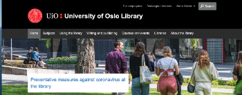 University of Oslo Library with the HumSam Library in focus