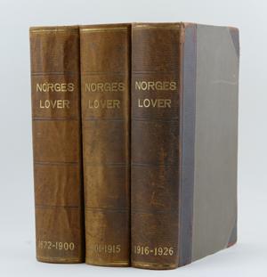 3d0324780 Utstilling: Norges lover 1926–2019 - Universitetsbiblioteket