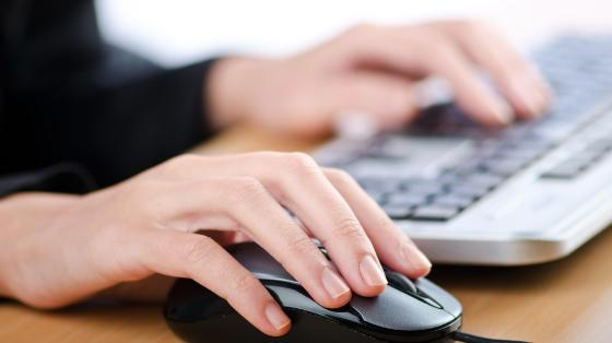 Image may contain: Hand, Peripheral, Computer keyboard, Typing, Personal computer.