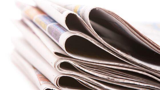 En bunke med aviser.